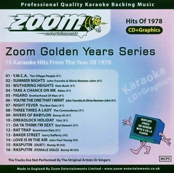 Zoom Karaoke Golden Years 1978 (CD+G)