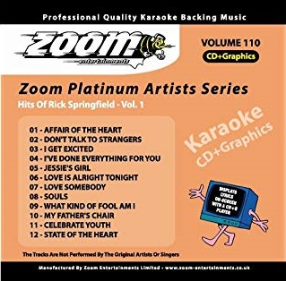 Zoom Karaoke Platinum Artists: Rick Springfield Vol.1 (CD+G)